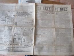 LE REVEIL DU NORD DU 6 OCTOBRE 1896 LE TZAR, LA MORT DU GENERAL IUNG,LES FÊTES FRANCO RUSSES A CHERBOURG,ACTUALITES REGI - Journaux - Quotidiens