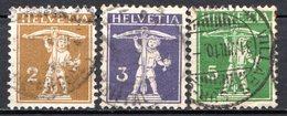 SUISSE - (Postes Fédérales) - 1909 - N° 128 à 130 - (Lot De 3 Valeurs Différentes) - (Walter Tell) - Svizzera