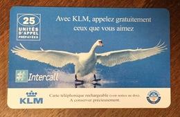 AVION KLM OIE INTERCALL CARTE TÉLÉPHONIQUE A CODE PHONECARD CARD PAS TELECARTE - Cadeaux Promotionnels