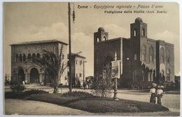V 72664 Roma - Esposizione Regionale - Piazza D'Armi - Padiglione Della Sicilia - Expositions