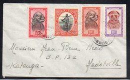 RUANDA-URUNDI CONGO - MASQUES + PALMIERS - USUMBURA 1953 Vers JADOTVILLE - PB1 - Ruanda-Urundi