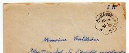 Guerre : Cachet Octogonal CUIRASSE L'OCEAN, Sur Enveloppe En F.M., écrite De TOULON 1939 (correspondance à L'intérieur). - Autres Collections