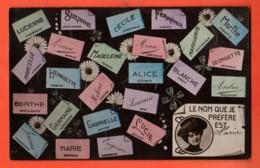 MK-35 Litho Carte Des Prénoms, Le Nom Que Je Préfère Est ...  Circulé Sous Enveloppe En 1908 - Firstnames