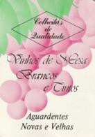 1989 Pocket Calendar Calandrier Calendario Portugal Bebidas Beverages Boissons Vinho Wine Vin Vino Adega Coop Batalha - Calendars