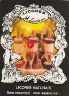 1990 Pocket Calendar Calandrier Calendario Portugal Bebidas Beverages Boissons Licores Naturais - Calendars