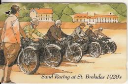 "JERSEY ISL. - 75th Anniversary Of JMC/Sand Racing At St.Brelades 1920""s, CN : 37JERA(normal 0), Tirage %15000, Used - Motorräder"