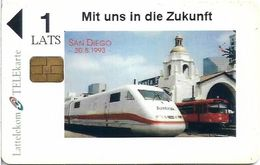 Latvia - Private - Steam Train ICE San Diego, 1Ls, 50ex, Mint (check Photos!) - Lettonie