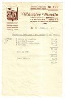 GUERET Facture De 1963 Maurice MARTIN Concessionnaire Garage SIMCA à Guéret Station Essence Shell - Auto's