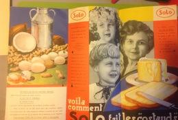 Pu. 168.  Depliant Publicitaire à 3 Volets De La Margarine Solo - Publicités