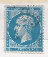 N°22 GRANDS CHIFFRES BIEN FRAPPES. - 1862 Napoléon III.