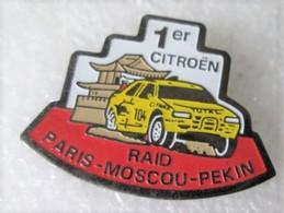 L190 Pin's CITROËN Rallye Raid Paris Moscou Pekin Pub Total Achat Immédiat - Citroën