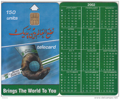 SUDAN - Calendar 2002, Sudatel Telecard 150 Units, Chip Siemens 35, Sample(no CN) - Soudan