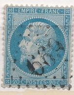 N°22 GRANDS CHIFFRES BIEN FRAPPES. - 1862 Napoléon III