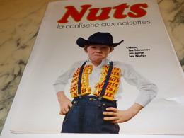 ANCIENNE  PUBLICITE LES HOMMES  AIME BARRE NUTS 1967 - Affiches