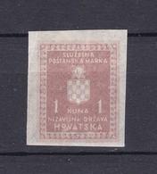 Deutsche Besetzungen - Kroatien - Dienstmarken - 1942/44 - Michel Nr. 4 U - Postfrisch/Ungebr. - Besetzungen 1938-45
