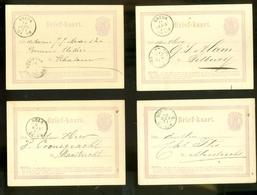 100 X HANDGESCHREVEN BRIEFKAART Uit 1870-75 * ALLEMAAL GELOPEN  VOORDRUK NVPH 18 * LOT *   (11.800) - Material Postal