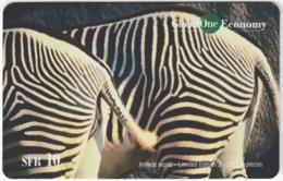 SWITZERLAND D-333 Prepaid GlobalOne - Animal, Zebra - MINT - Suisse