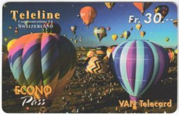 SWITZERLAND D-397 Prepaid Teleline - Leisure, Ballooning - Used - Suisse
