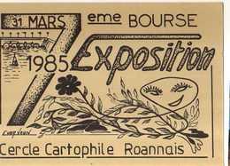 42 Cercle Cartophile ROANNAIS 7° Bourse Exposition, Illustrateur - Roanne