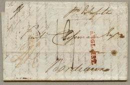 Par Estafette + ANGL. EST. Sur Lettre De Londres Pour Bordeaux En 1834 - 1801-1848: Precursors XIX