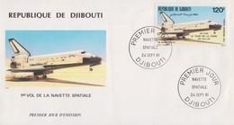 Enveloppe  FDC  1er  Jour    REPUBLIQUE   De   DJIBOUTI    1er  Vol  De  La  Navette  Spatiale   1981 - Dschibuti (1977-...)