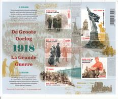 2018 Belgium WWI Liberation History  Souvenir Sheet MNH  @ BELOW FACE VALUE - Belgien