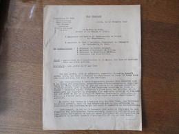 ETAT FRANCAIS LILLE LE 12 DECEMBRE 1942 PREFECTURE OBJET INTERDICTION DE LA DANSE DES BALS ET DANCINGS DANS LES LIEUX PU - Documentos Históricos