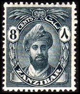 1926-1926. ZANZIBAR. Sultan Chalifa Bin Harub. 8 CENTS. Never Hinged.  (Michel 170) - JF360165 - Zanzibar (...-1963)