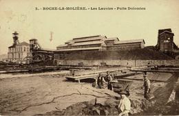 Mines, Mine : Roche-la-Molière - (42) Loire - Les Lavoirs - Puits Dolomieu - France