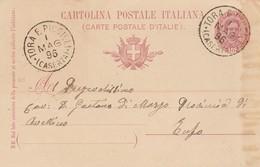 Tora E Piccilli. 1896. Annullo Grande Cerchio TORA E PICCILLI (CASERTA), Su Cartolina Postale - 1878-00 Umberto I