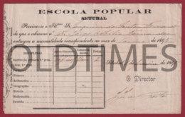PORTUGAL - SETUBAL - ESCOLA POPULAR - 1895 RECIPE - Portugal