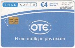 GREECE G-034 Chip OTE - Calendar 2005 - Used - Griechenland