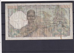 AOF French Weszt Africa 1000 Fr  8-3-1951  VF - West African States