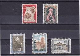 MONACO 1968 ABBAYE NULLIUS DIOECESIS Yvert 744-748 NEUF** MNH - Monaco