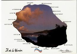 CPM  La Réunion, Carte à Système Géographique à 3 Volets (Ile Et Saint-Philippe), 1992 - Unclassified