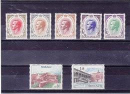 MONACO 1969 RAINIER Yvert 772-778 NEUF** MNH Cote : 15 Euros - Monaco