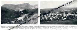 1929 : Photo, Belgique, Congo Belge, Matadi, Le Pont Du Chemin De Fer Du Bas-Congo, Camp Des Travailleurs Indigènes - Vieux Papiers