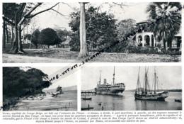 1929 : Photo, Belgique, Congo Belge, La Capitale Boma, Le Port Maritime, Bateaux à Vapeur, Estuaire Du Bas Congo - Vieux Papiers