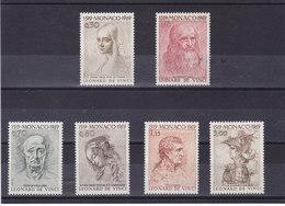MONACO 1969 DESSINS DE LEONARD DE VINCI Yvert 799-804 NEUF** MNH - Neufs