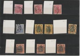 """DR Kleines Lot Germania """"Reichspost"""" Plattenmerkmale (2) - Usados"""