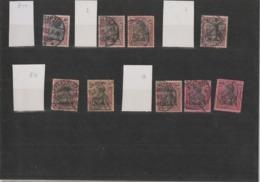 """DR Kleines Lot Germania """"Reichspost"""" Plattenmerkmale (3) - Usados"""