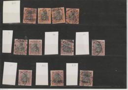 """DR Kleines Lot Germania """"Reichspost"""" Plattenmerkmale (4) - Usados"""
