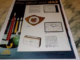 ANCIENNE PUBLICITE FETEZ NOEL AVEC  JAZ 1967 - Joyas & Relojería