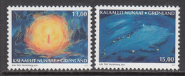 2017 Greenland Christmas Noel Complete Set Of 2 MNH @   BELOW FACE VALUE - Groenland