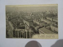 CPA 75 PARIS Panorama Pris Du Panthéon (coté Nord) 1910 TBE - Otros