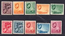 SEYCHELLES, 1938, Hinged Stamps Definitives (not Complete, SGnr. 121=145, Scannr. #9474 - Seychelles (...-1976)
