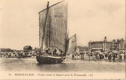 62 - BERCK-PLAGE - VOILIER AVANT LE DÉPART POUR LA PROMENADE - Berck