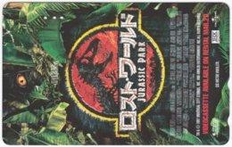 JAPAN M-540 Magnetic NTT [110-016] - Cinema, The Lost World - Jurassic Park - Used - Japan
