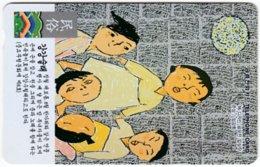 SOUTH KOREA A-738 Magnetic Telecom - Painting, People, Children - Used - Korea (Süd)