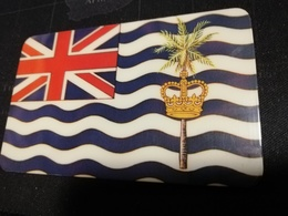 DIEGO GARCIA  $10,- ISLAND FLAG DG19 NICE FINE USED CARD   **532** - Diego-Garcia